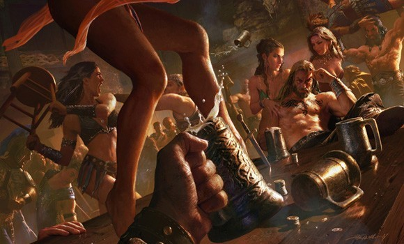 Age of Conan Bar Fight