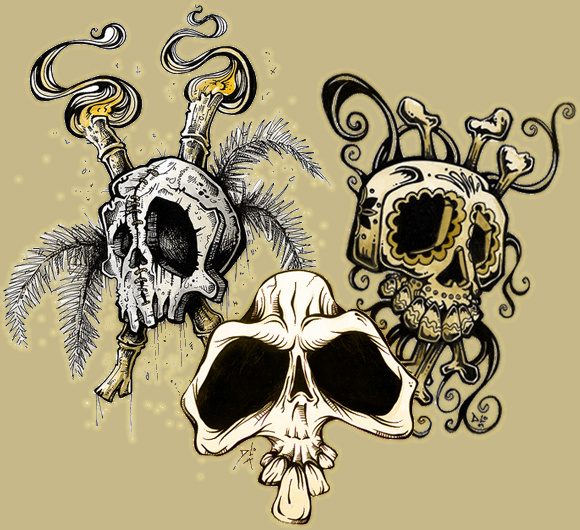 Three-skull Monte David Lozeau