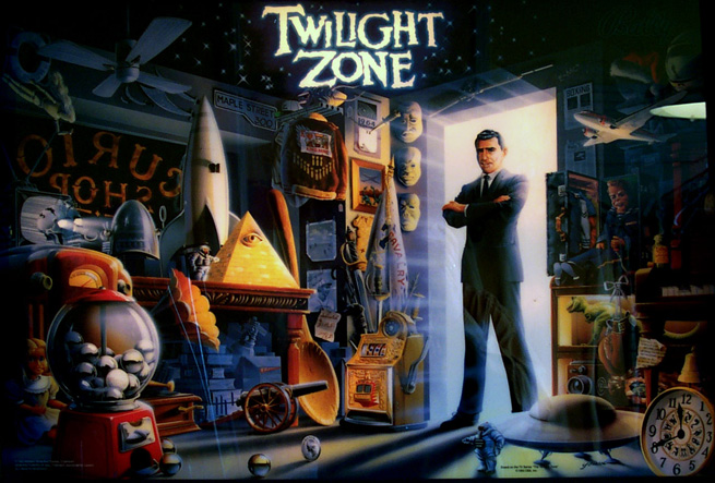 Twilight Zone Pinball Backglass